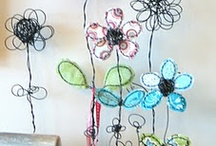 wire art - flowers
