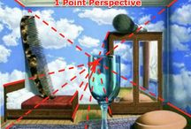 1 point perspective surrealism / by Kristen McCarthy