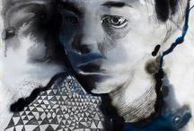 Obrazy Joanny Rolickiej (Joanna Rolicka painting) / Obrazy namalowane przeze mnie w trakcie studiów na ASP (my paintings).