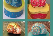 conchas decoradas