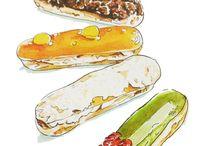 art de vivre/cuisine my work / illustrations de livres de cuisine