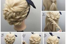 Medium/long hair updos