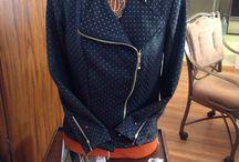 My  latest creations / Gold fleck knit moto jacket