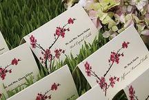 Tree blossom wedding