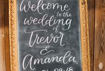 Wedding Signs and Calligraphy