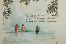 carnets de voyage aquarelle