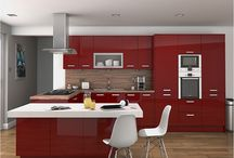Kitchen in red