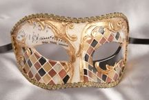 Masquerade Masks in Gold