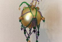for sale Etsy '16 / beaded christmas ornament covers made by hand.