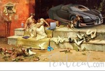 Funny renaissance art / Showing some images from a website helping entrepreneurs start a side gig with no financial risk