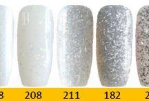 Q1T Professional UV nail polish- White, black & silver shades