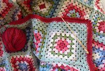 I love this blanket/ granny squares