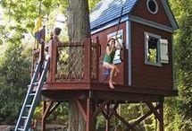 Casa árvores e parques