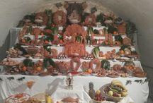 """La tavola di San Giuseppe 2016 / La tradizionale """"Tavola di San Giuseppe"""" realizzata all'interno della Casa Museo Caripa"""