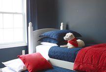 Boys summerhouse bedroom painting