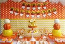 Candy Corn Halloween Party / Kid-Friendly #Halloween #Party with a #CandyCorn theme!