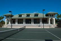 Tennis Center at Boca West Country Club / Pro shop and viewing area for special events with 31 Har Tru Hydro tennis courts.  Recipient of the 2013 USTA Outstanding Facility Award.