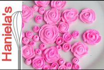 flor de glace e pasta de flores