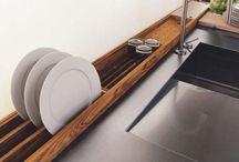 cafe kitchen stainless steel / Bar in door design