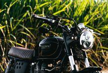 Custom Triumph Bonneville Scrambler