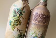 botellas decoupage