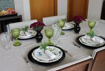 mesa e pratos