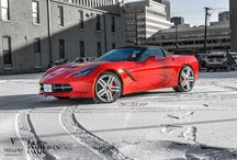 "2014 Chevrolet Corvette l Vellano VTJ / check out this beautiful red 2014 Chevrolet Corvette l Vellano VTJ 20"" 22"" Concave. by our Friends over At Lee's Foreign Car Service.   What you guys think?"