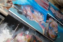2013 Process / Details of my working process and surface of the works