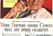 Historic Cigarette Advertising / Cigarette advertising used to be prolific. And some of the old 1940s and 1950s (and later) ads that were released by cigarette companies are hard to believe these days. This is a collection of some of the old cigarette adverts. / by Stacey Cavanagh