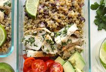 Chicken prepped meals and lunch