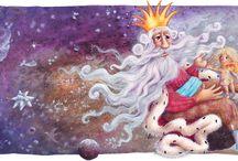 my own illustrations / mé vlastní ilustrace ke knihám pro děti