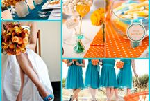 The day I become the Mrs.!! ☺️ / Teal and orange