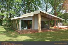 Our first Mocadazu Luxury Bamboo Tent / We are building two Luxury Bamboo Tents at a beautiful campsite in the Southeast of The Netherlands. Here you will find some of the pictures we made during construction.