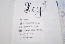 Bullet Journal Key&Index
