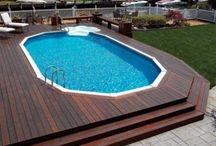 Above ground pool deck ideas!