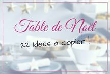 Tables de Noël
