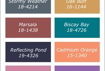 Pantone Fall 2015 Color Report / Pantone's Fall 2015 Color Report is dedicated to earthy neutrals and bold colors.  2015's Color of the Year, Marsala returns to add richness and sophistication to the Fall palette.