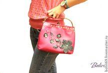 """Кожаная сумочка """"Розовое настроение"""""""