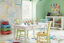 HOME :: Play Room - Yellow, Gray + White / by Stacey Bellotti