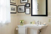 small bathroom cream powder rooms