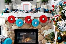 Christmas- Red & Turquoise Theme / Love the Christmas colors of red & turquoise, so retro! / by Southern Charm Wreaths