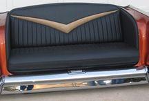 sofás con partes de autos