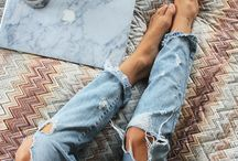 ripped jeans & skinny shoulders