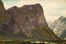 Johan Fredrik Eckersberg / Johan Fredrik Eckersberg (født 16. juni 1822 i Drammen, død 13. juli 1870 i Sandvika) var en norsk kunstmaler. Han er kjent for sine landskapsbilder, særlig fra høyfjellet.