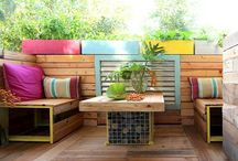 Patio Ideas / Patio Touch Recycled, Up-cycled, Re-purposed, Up-purposed things, DIY Ideas.