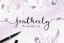 Hand-lettered Font