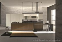 Island kitchens: design and elegant welcoming / Comfortable and functional layouts. For all those who want contemporary design and an elegant welcoming.