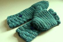 Haken - fingerless gloves