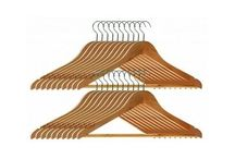 Housewares Wooden Clothes Hangers - Set of 20
