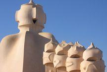 Gaudi / The work of Antoni Gaudi  - spanish architect